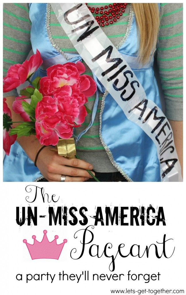 The Un-Miss America Pageant-really fun party idea that would make a fun YW activity! Four categories and ready-to-print scorecards for the judges. #youngwomen #activity #lds