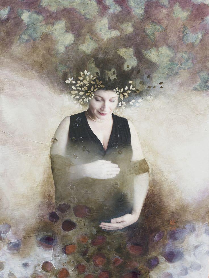 mixed media on canvas 45/55 cm 2016  reinterpretation/introspection series