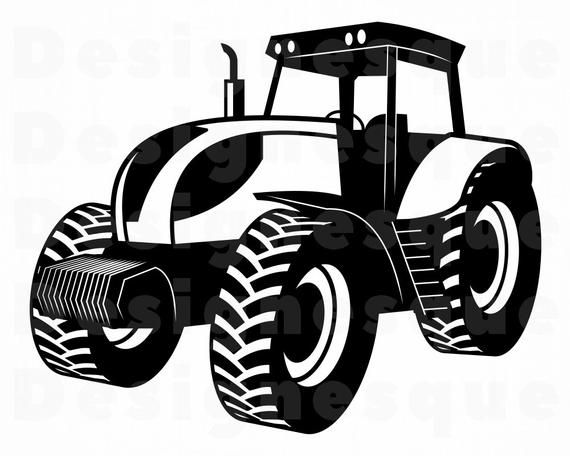 Tractor Clipart Tractor Svg Svg Files for Silhouette Dxf Tractor Farm Tractor Svg Farmer Svg Cricut Tractor Svg File