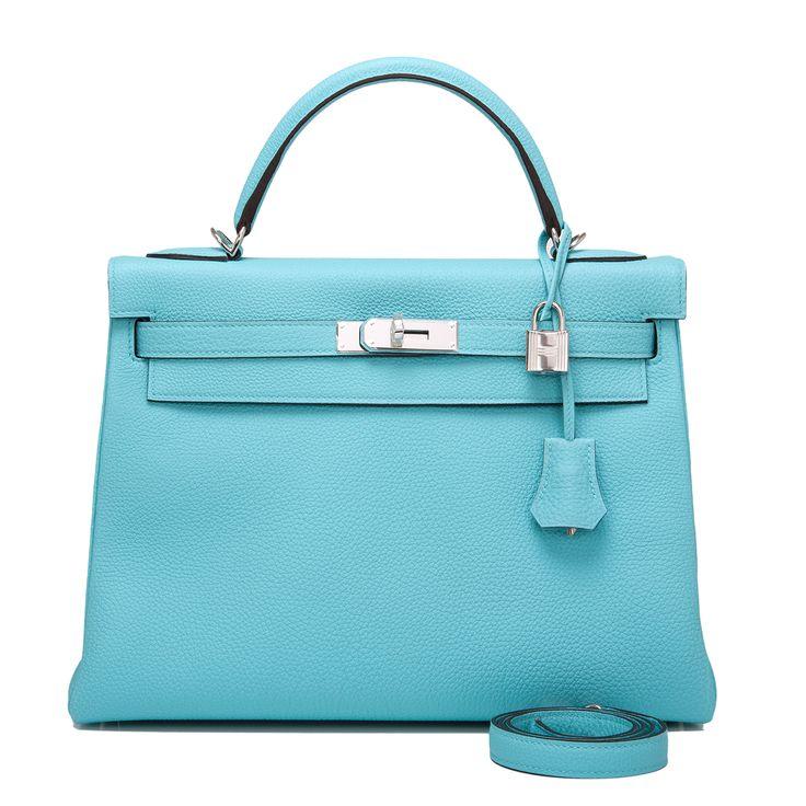 best replica hermes evelyne bag - Hermes Kelly Bag 32cm Blue Atoll Togo Palladium Hardware