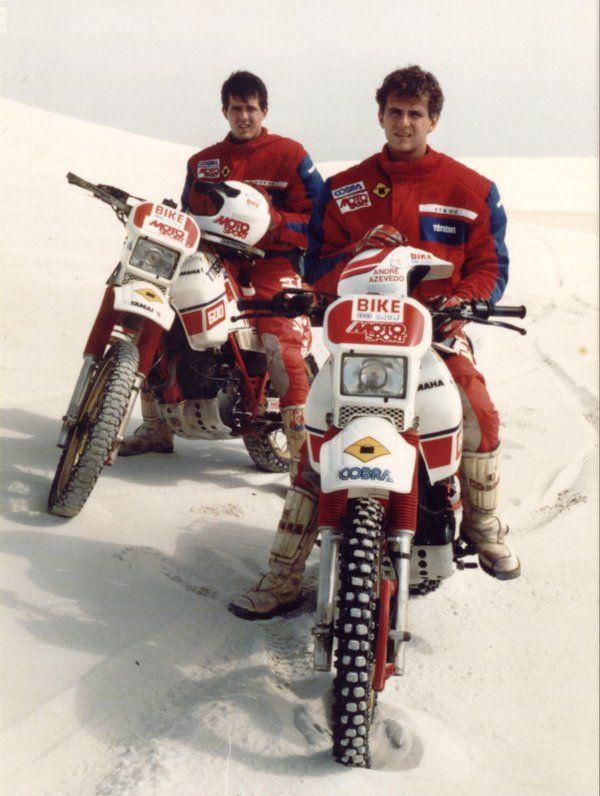 André Azevedo e Klever Kolberg #ParisDakar del 1989.