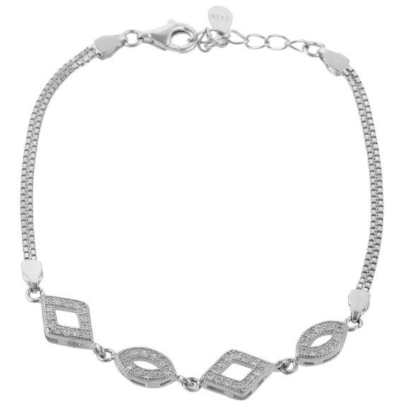 Silver American Diamond bracelet for Women
