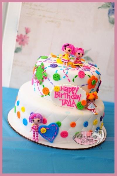 Cute Lalaloopsy cake http://media-cache5.pinterest.com/upload/21814379414579638_QvzLn1Hz_f.jpg amyzam lalaloopsy party ideas