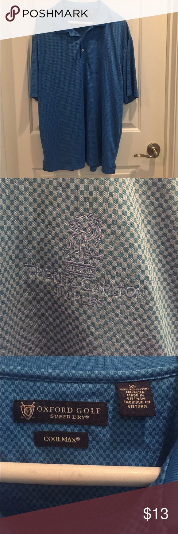 Men's Golf Polo Shirt Men's Golf Polo by Oxford Golf from The Ritz-Carlton in Naples FL size xl Shirts Polos