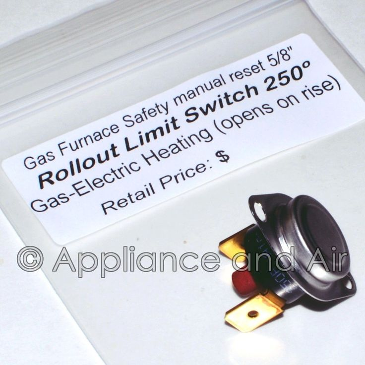L250 Rollout Switch Manual Reset Gas Flame Heating Furnace Disc Limit Instruct.