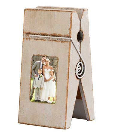 Look what I found on #zulily! Clothes Pin Frame #zulilyfinds