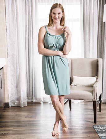 Bamboo braided maternity and nursing nightgown - Milk Nursingwear nightgown