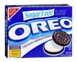 sugar free cookies and they're low carb and OREO'S!!!!!