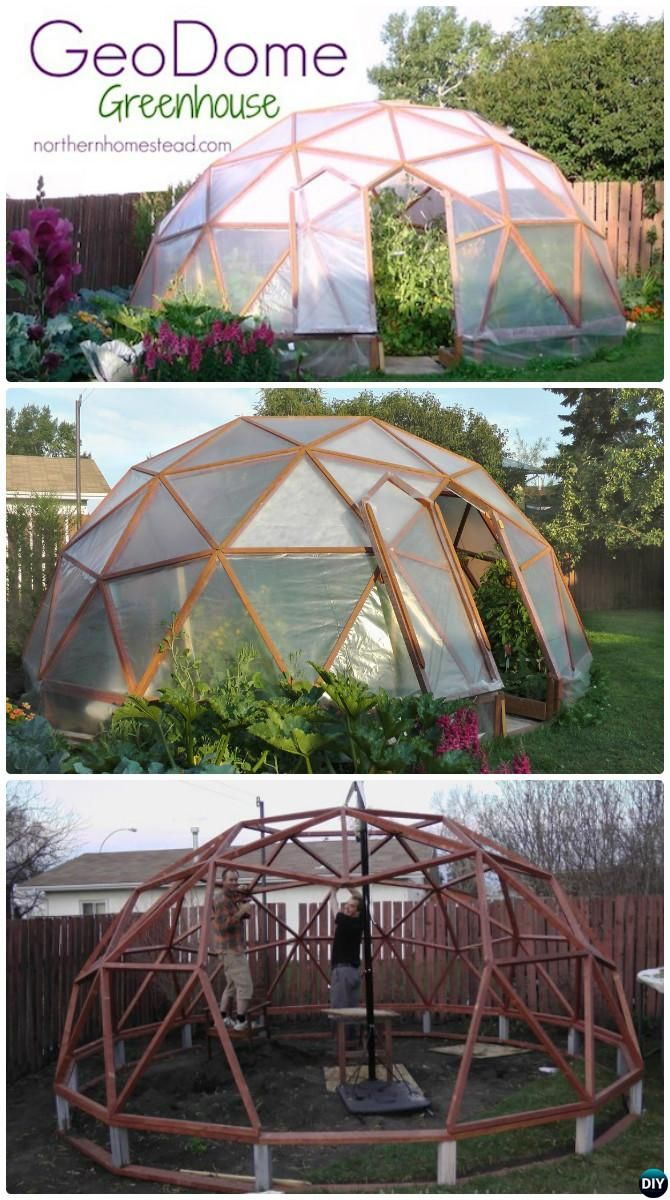 #DIY GeoDome #Greenhouse Free Plan Instruction-18 DIY Green House Projects Instructions   #Gardening