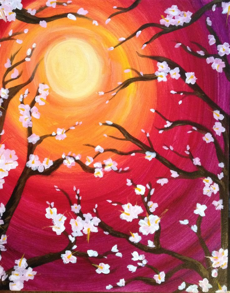 I am going to paint Morning in Bloom at Pinot's Palette - Highlands to discover my inner artist!