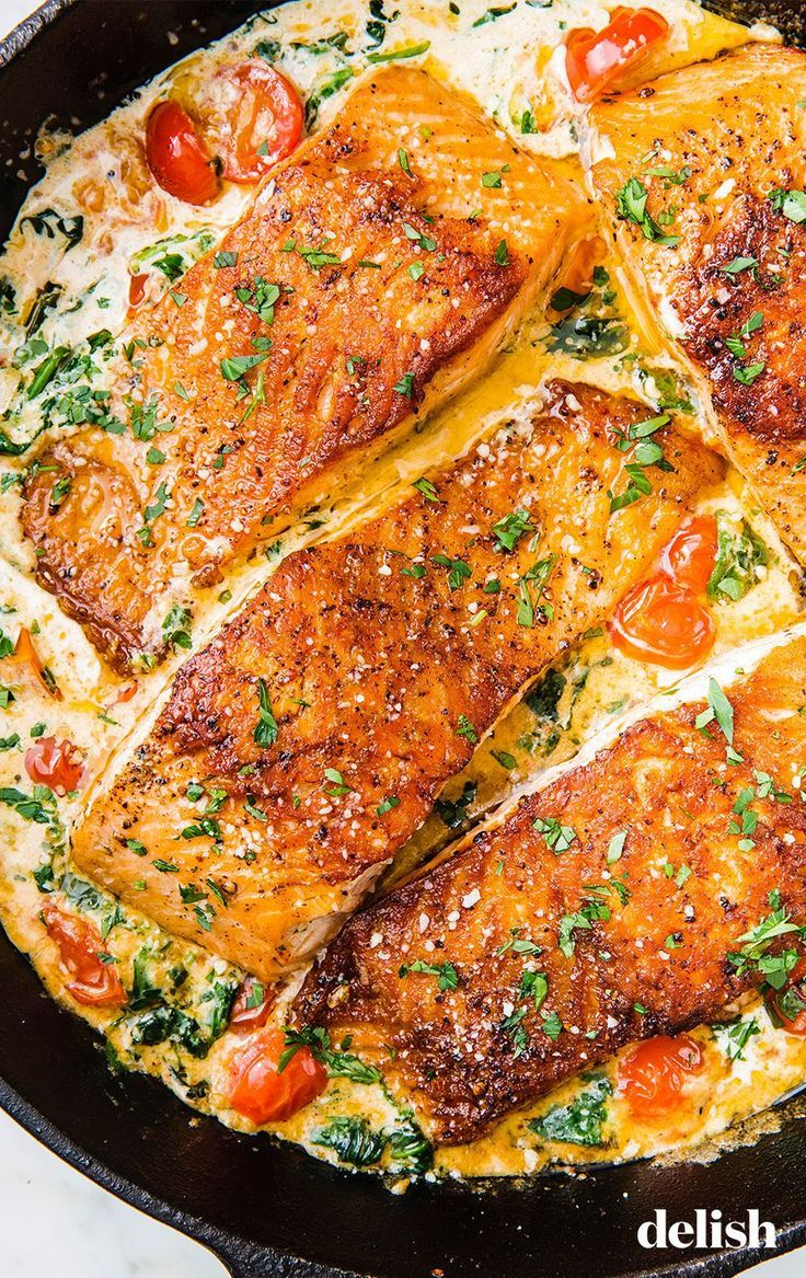 Tuscan Butter Salmon Is An Impressive Dinner That Anyone Can Make Recipe Salmon Recipes Salmon Dishes Seafood Recipes