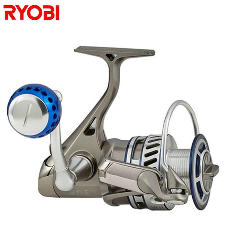 53.00$  Buy here  - RYOBI 1000-8000 Spinning Fishing Reel 6+1BB 5.0:1/5.1:1 Line Fishing Wheel Moulinet Peche Carretilhas De Pescaria Carp Fish Coil