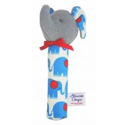 Elephant Squeaker - Blue Grey