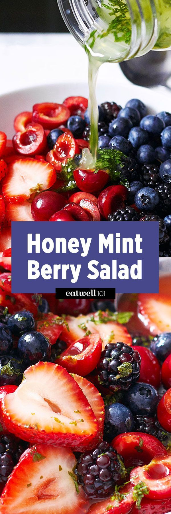 Berry Salad with Honey Lime and Mint Dressing