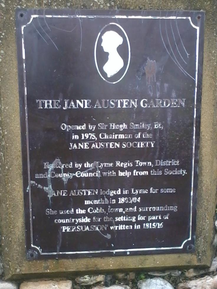 The Jane Austen garden in Lyme Regis