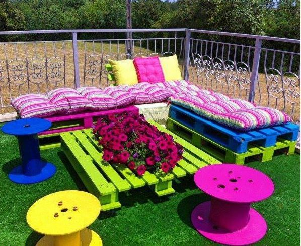 Outdoor Furniture Using Pallets Home Yard Decorate Patio Diy Deck Home Ideas  Pallet Outdoor Furniture Home Projects