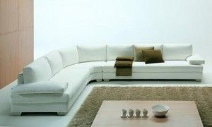 Minimalist Large Sectional Sofas White