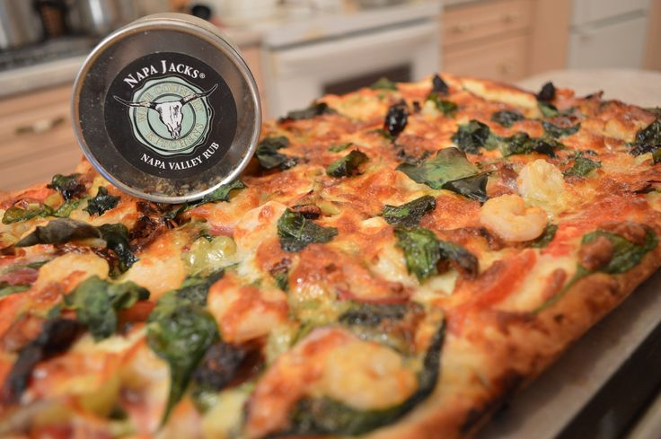 Happy #SurfAndTurfDay! Try #baking a #Shrimp #Capocolla #Pepper & #Spinach #Pizza with a #NapaValley #PizzaCrust!  This show is brought to you by Wine Country Kitchens; http://WineCountryKitchens.com  * Subscribe to Cooking With Kimberly: http://cookingwithkimberly.com @CookingWithKimE #cwk