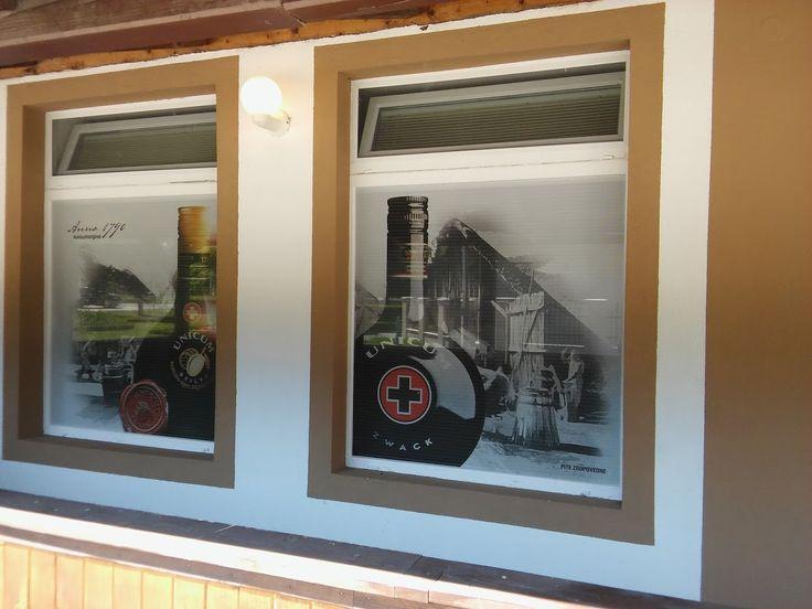 Tlač a polep okna, výkladu, fasády