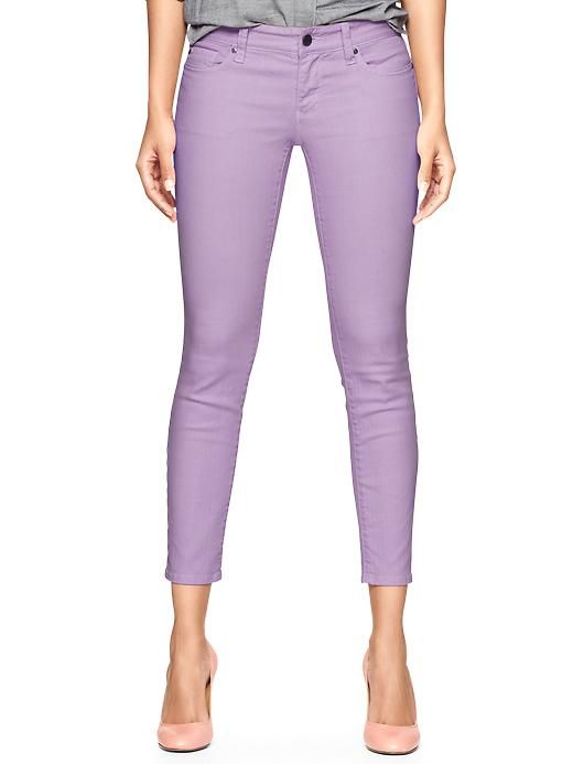 Purple skimmer jeans from The Gap, I love that these show off your ankles and shoes.  Perfect for Spring and Summer. :)