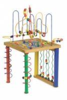 """Motorický labyrint """"Hrací stůl""""  Velká varianta pro spoustu rukou! Cvičí motorickou dovednost dětí.  Vhodné pro děti od 3 let  Mteriál : dřevo, kov  Rozměry : 90 x 67 cm http://www.skonti.cz/motoricky-labyrint-hraci-stul-p261"""