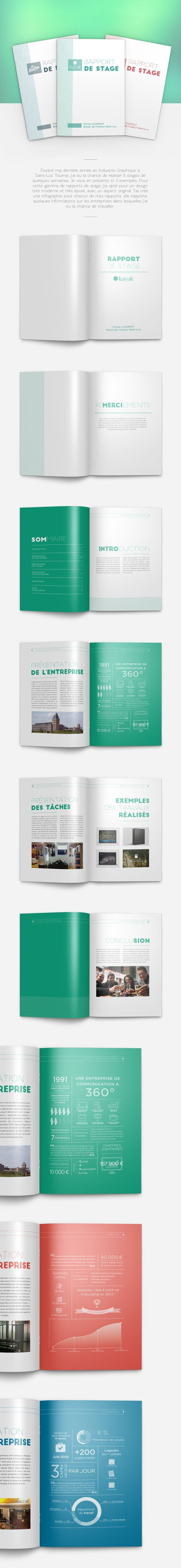 Rapport de stage on Behance: