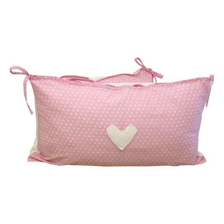 Hearts Pink Dot - Cot Bumper