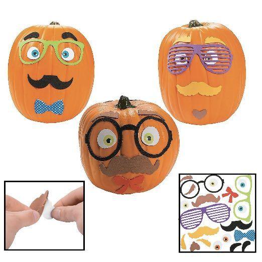 Funny Foam Mustache Pumpkin Decorating Craft Kit
