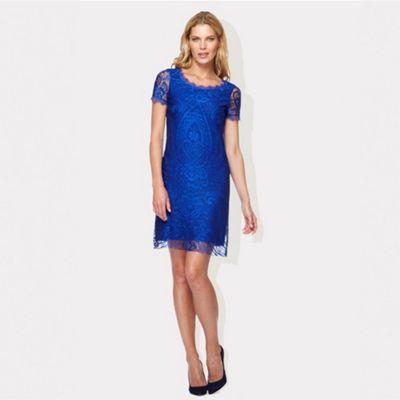 Damsel in a dress Blue lace Hawaii dress- at Debenhams.ie