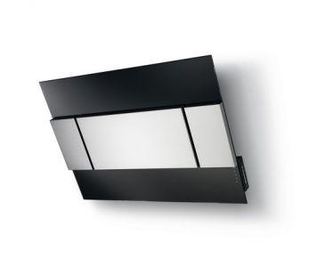 BREAK 800 BLACK/INOX F-digestoř, nerez-sklo