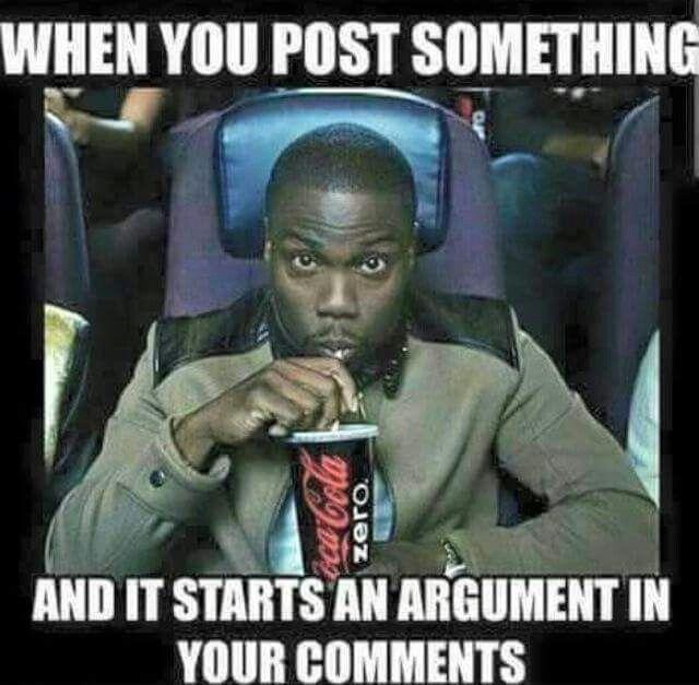 Facebook Drama Meme Popcorn
