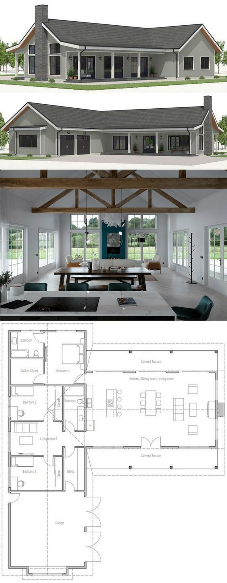 37 Architectural Designs Modern Farmhouse Plan