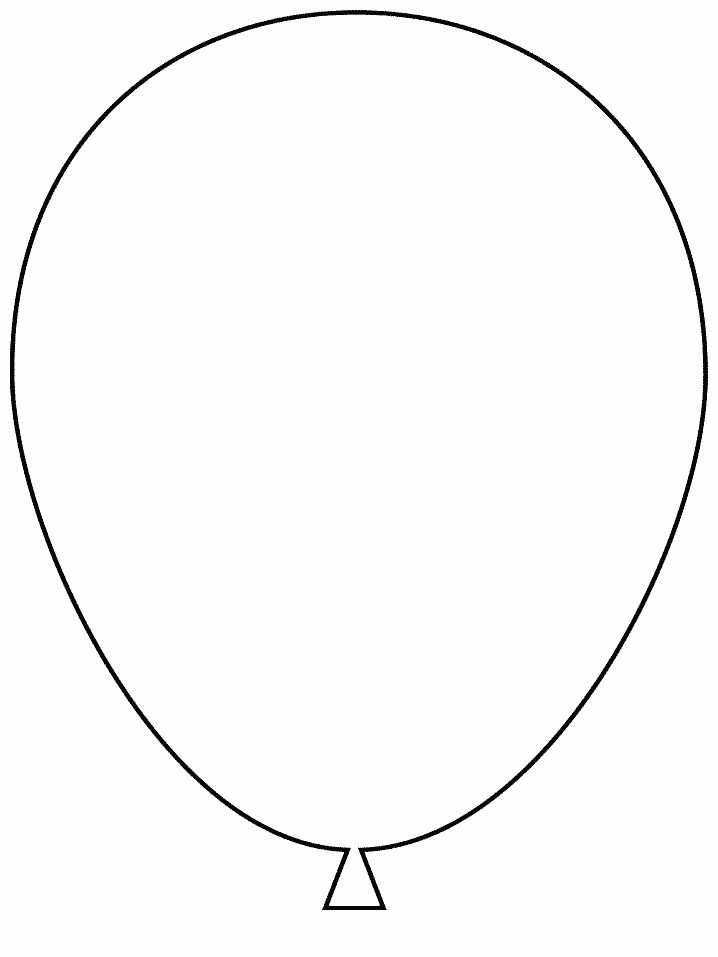 balloon coloring page - could be used as a template for applique