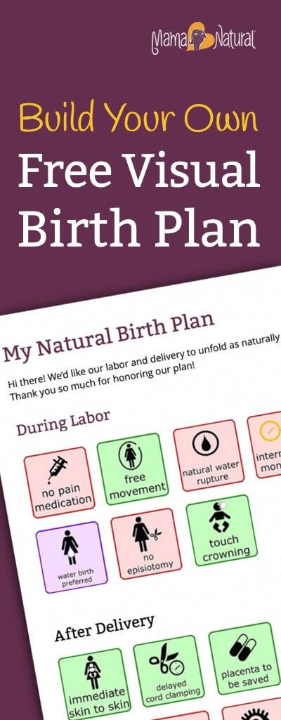 Looking for a simple birth plan? You've found one! Download this free, one page visual birth plan that any labor and delivery nurse will appreciate. http://www.mamanatural.com/visual-birth-plan/