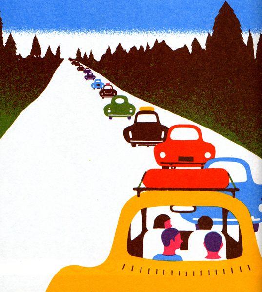 Illustration - vacation traffic
