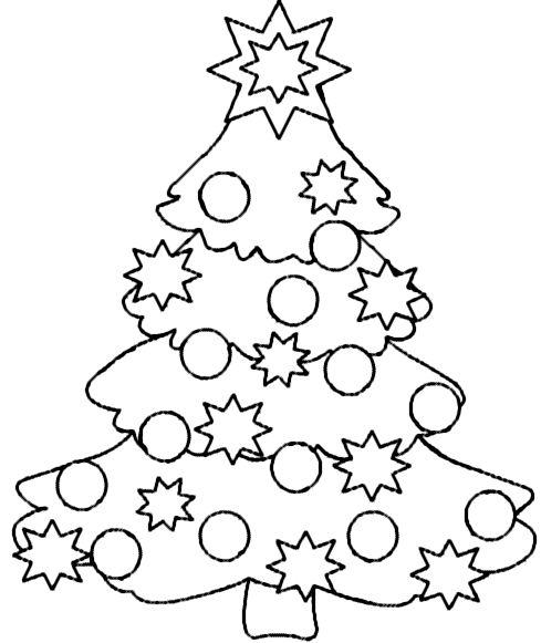 bilder kolorieren  christmas tree coloring page