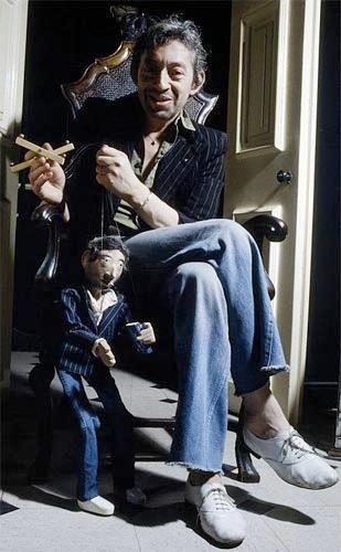 Serge Gainsbourg wearing Repetto Oxford shoe Zizi Goatskin White