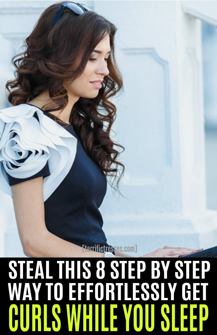 Heres how to curl your hair overnight using socks yes