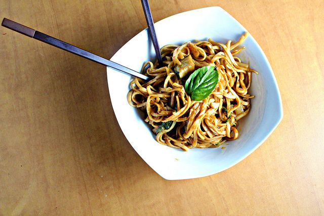 Noodles in Thai Curry Sauce