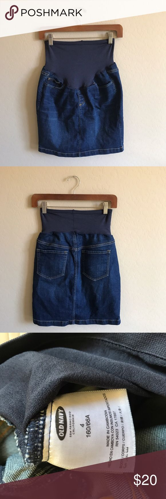Old Navy Maternity Denim Skirt Excellent pre-owned condition ✨ Old Navy Skirts Mini