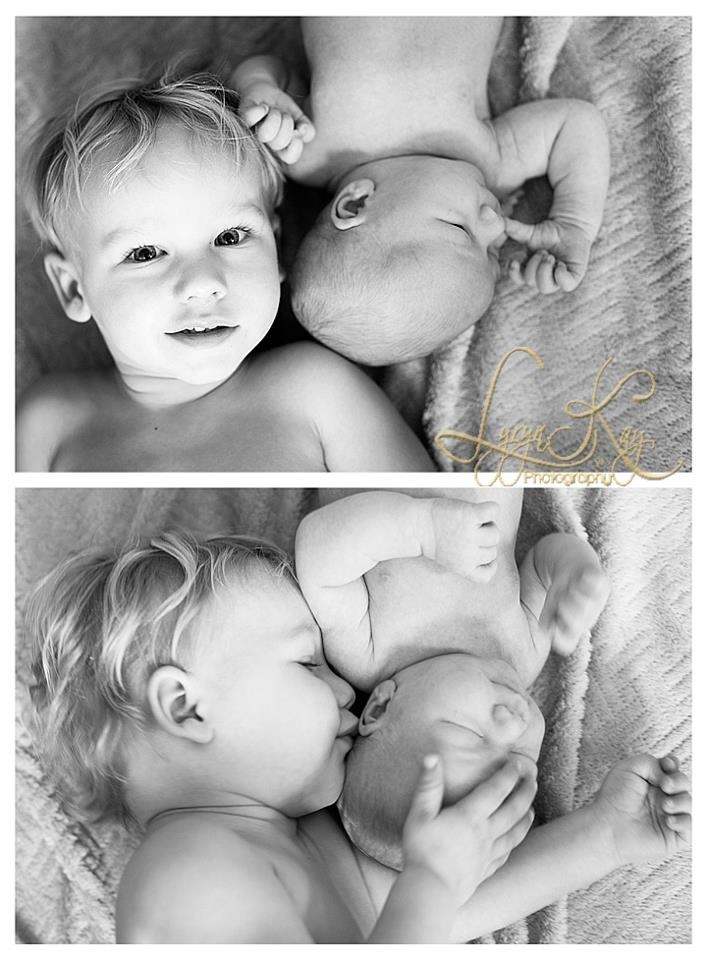 Newborn photo shoot with big brother! Siblings .  Newborn photography.