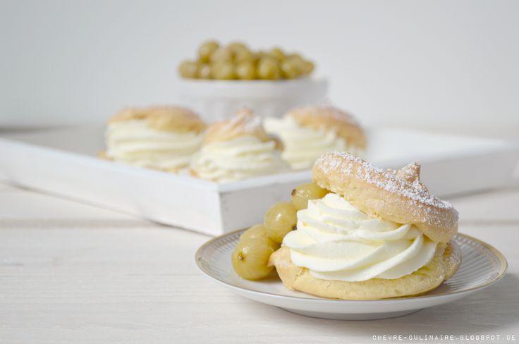 Chèvre culinaire: Profiteroles // Gooseberry // Windbeutel mit Stachelbeeren