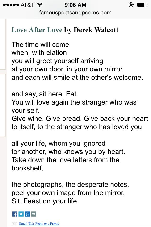 love after love poem by derek walcott poem hunter - 640×960
