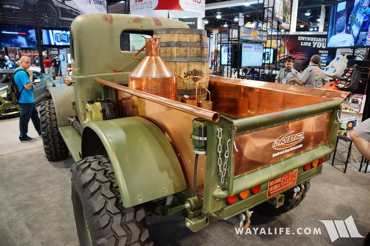 Dodge power wagon SEMA truck copper bed