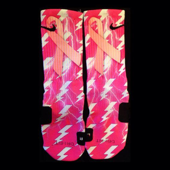 Breast Cancer Awareness custom Nike Elites by TheSickestSocks, $36.00