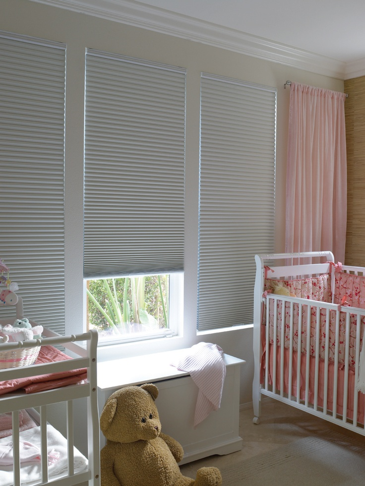 honeycomb blinds in the nursery - Blinds For Baby Room
