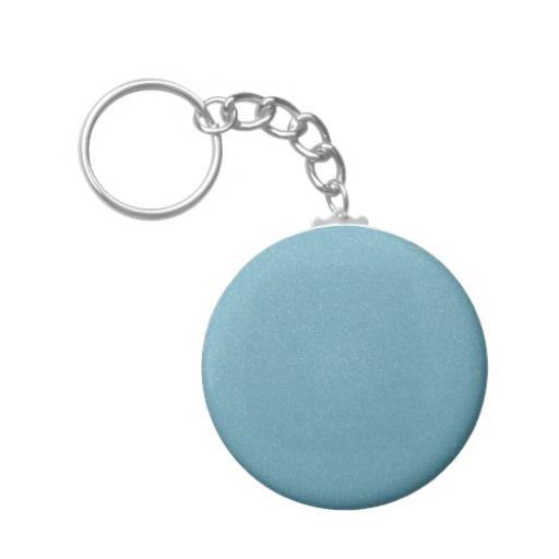 PANTONE Aquamarine babyblue with faux fine Glitter Keychain