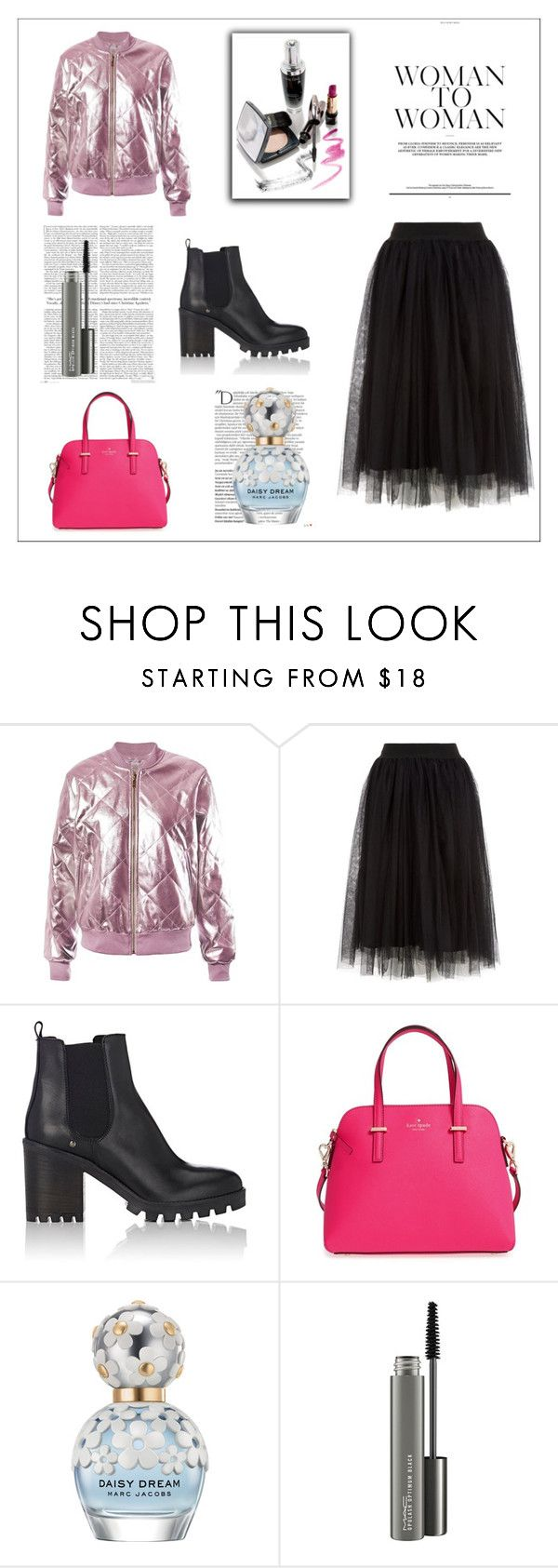 """""""Untitled #4"""" by kocze-eniko on Polyvore featuring Sans Souci, Barneys New York, Kate Spade, Balmain, Marc Jacobs and MAC Cosmetics"""