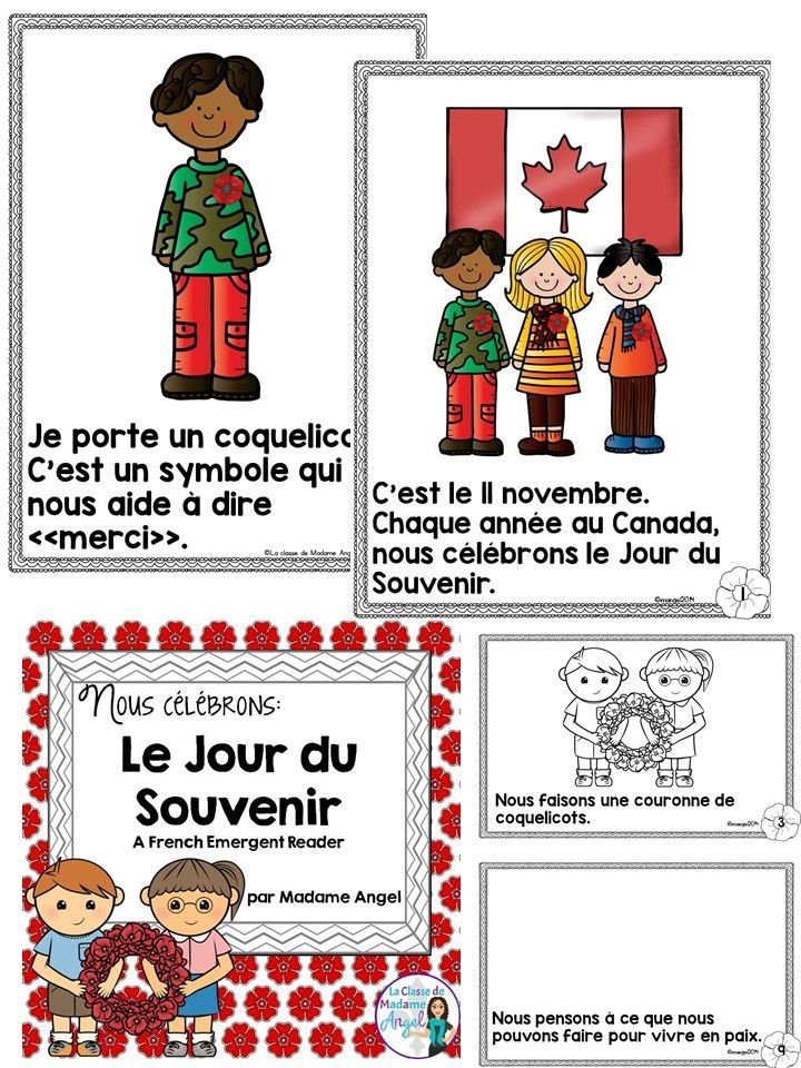 Le Jour du Souvenir.  Teach your French students all about Remembrance Day in French with this emergent reader.