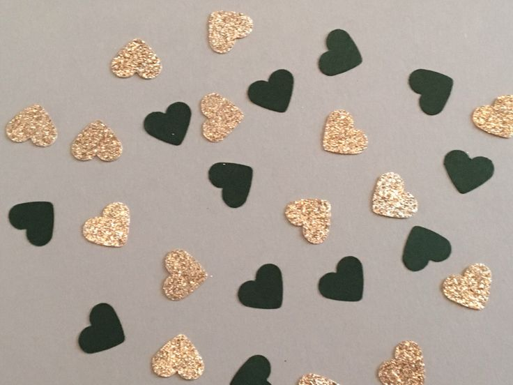 200 Green and Gold Confetti Heart Confetti Glitter Confetti Shower Confetti Baby Confetti Wedding Confetti Birthday Confetti Bachelorette by JBPartyCreations on Etsy https://www.etsy.com/listing/466701655/200-green-and-gold-confetti-heart